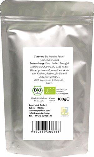 100g BIO Matcha Tee aus Japan zum kochen und backen traditionell asiatischer Grüner Tee