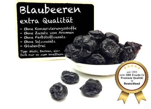 """Blaubeeren - Heidelbeeren - Vaccinium myrtillus - ohne Schwefel, ohne Zusatzstoffe - """"PREMIUM QUALITÄT""""- 1001 Frucht - EXCLUSIVE - Nüsse - Trockenfrüchte - Gewürze - 250 GR - ***KOSTENLOSER PERMIUM VERSAND!***"""