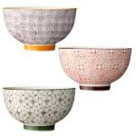 """Bloomingville Schalen-Set """"Isabella"""" / handmade / 3-farbig sortiert / 3er Set / 11 x 6,5 cm hoch"""