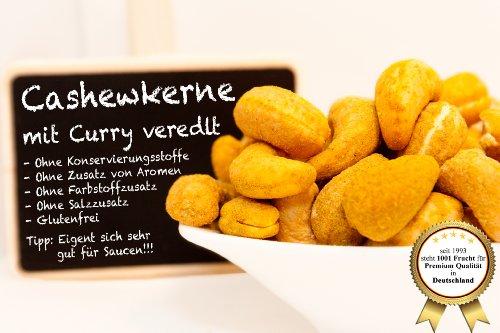 """Cashewkerne, mit originalem indischem Curry veredelt - """"TOP Qulität"""" - """"Limited Edition"""" - Nur solange der Vorrat reicht!!!! - 250 GR"""