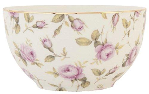 Clayre & Eef TRPU Schale Schüssel Müslischale Blumen rosa ca. Ø 16 cm