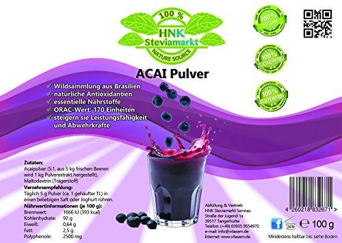 HNK Acai Pulver (Euterpe oleracea), 1er Pack (1 x 100g)