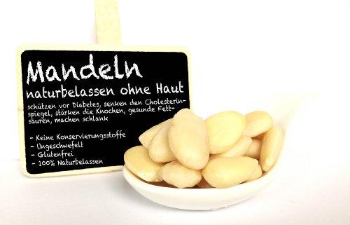 Mandeln, blanchiert - naturbelassen und ungesalzen - 500 GR
