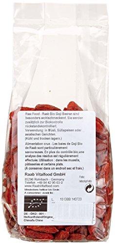 Raab Vitalfood Bio-Goji-Beeren, 100g, 1-er Pack (1 x 100 g) - Bio