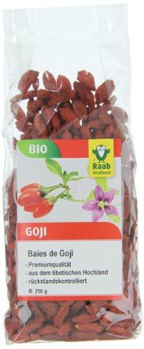 Raab Vitalfood Bio-Goji-Beeren, 250g, 1-er Pack (1 x 250 g) - Bio