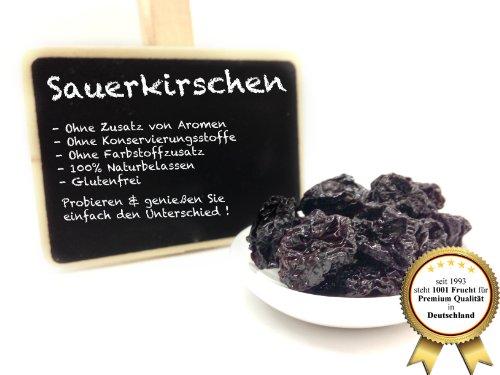 """Sauerkirschen, unbehandelt - Naturbelassen ohne Zusatzstoffe - Kirschen """"PREMIUM QUALITÄT""""- 1001 Frucht - EXCLUSIVE - Nüsse - Trockenfrüchte - Gewürze - 250 GR"""