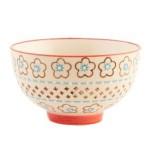 Müslischale, Schüssel mit Blumenmuster D. 11cm H. 7cm Keramik Clayre & Eef WA