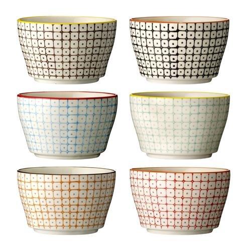 """Schalen """"Carla"""" / 6-farbig sortiert / 6 Stück / handmade / 11 x 6,5 cm"""