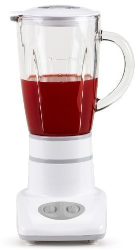 Single-Standmixer, Shaker-Mixer mit Glaskanne 0.45L, püriert in Sekunden, ideal für kleine Küchen