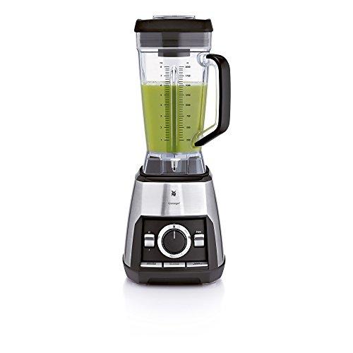 WMF KULT pro Power Green Smoothie Standmixer, 1600 W, 33.000 U/min, 2 l Krug, BPA-frei, 3 Programme, cromargan matt/silber