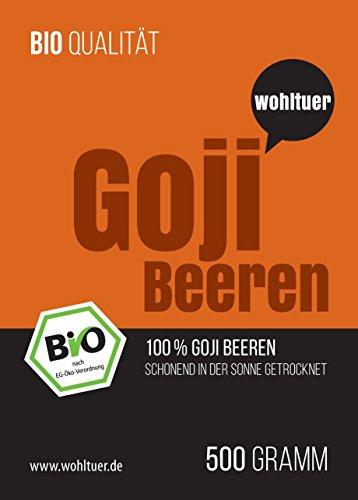 Wohltuer Bio Goji Beeren 500g - In Rohkostqualität!