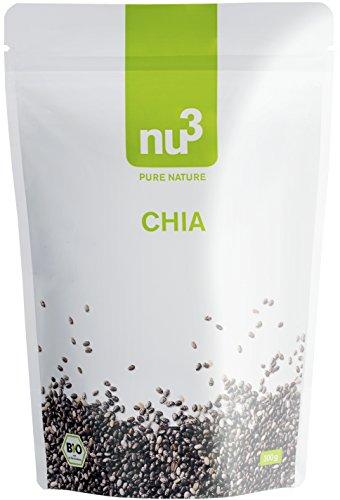 nu3 Premium Bio Chia-Samen, 300g - Wertvolle Omega-3 Fettsäuren, Ballaststoffe und natürliches Protein, vegan und aus kontrolliert biologischem Anbau