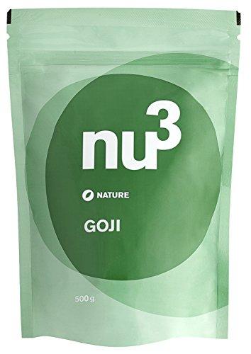 nu3 Premium Goji Beeren 500g - Saftige Superfood-Beeren zum Naschen - Qualität in Deutschland geprüft und bestätigt