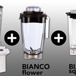 BIANCO diver + BIANCO flower + BIANCO square + Buch (Perlmutt)
