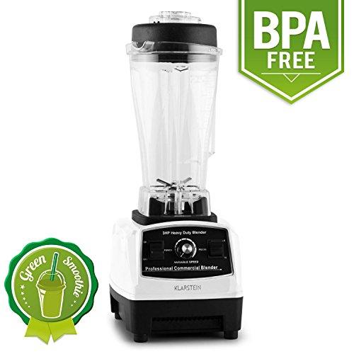 Klarstein Herakles 2G-W Profi Küchenmixer Power Standmixer Smoothie Mixer (1200W, 2 Liter, Green Smoothie Maker, BPA-frei, 28.000 U/min) weiß