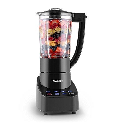 Klarstein Touch & Go Edelstahl Standmixer Smoothie Mixer Küchenmixer mit Glaskrug (700 Watt, 1,5 Liter, Touch-Bedienung, 3 Geschwindigkeiten, Puls- Frozen Drinks- und Crushed Ice-Funktion) schwarz