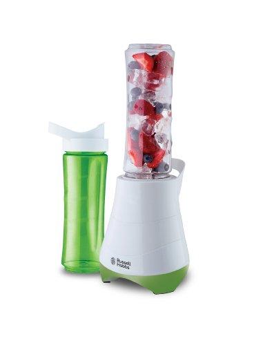 Russell Hobbs 21350-56 Standmixer Mix & Go/Smoothie Maker mit 0,4 PS Power-Motor (300 Watt, bis zu 24.000 U/min), zwei BPA-freie Trinkflaschen inkl., Edelstahlmessereinheit