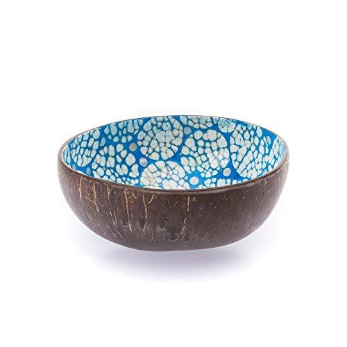 Bea Mely Kokosnuss - Cocobowl - Perlmutt-Ei-Kokosnuss Schale - Dekoschale - Blau