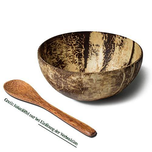 Coco Queen Kokosnuss Schale · handgemachte Kokosnuss Schüssel · Smoothie Bowl · 100% natürliche Müslischale · Coconut Bowl poliert und mit Kokosöl versiegelt