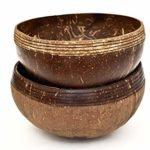 Coconut Bowl 100% Upcycling- & Naturprodukt | Große Kokosnuss Schalen für Smoothie Bowl - Buddha Bowl - Salad & Vegan Bowl | Für Frühstück und Dekoration | Mit Liebe zum Detail