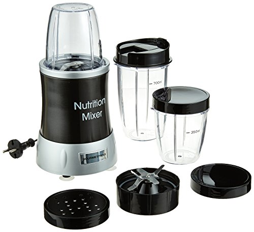 GOURMETmaxx 04201 Nutrition Mixer Deluxe 11-teilig ( 1000W Extra Power, 22.000 RPM, To-go-Deckel, 7 Funktionen )