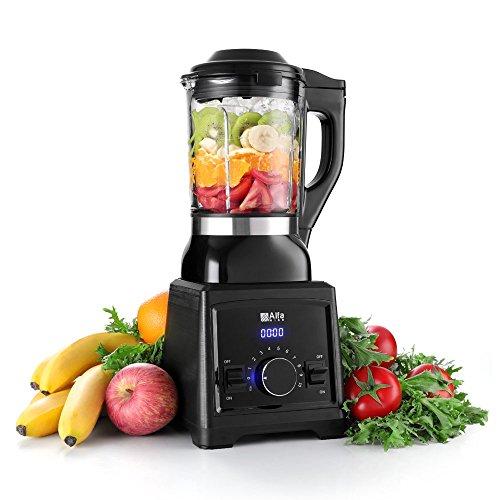 Hochleistungsmixer Alfawise Standmixer Smoothie Mixer 2000W 3000 U/Min für Obsts- / Gemüsesaft, Smoothies, Milchshakes, Soße, Bbynahrung Rohkost - 1.75L