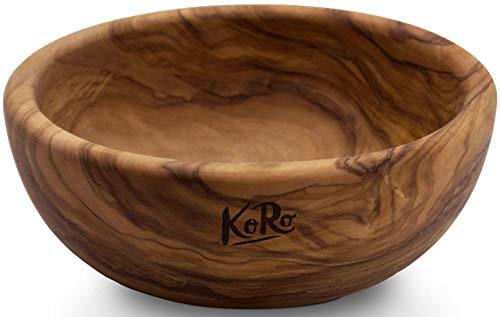 KoRo | Holzschale aus Olivenholz | Durchmesser 16 cm | Höhe 6 cm | Schale aus Holz | Schüssel | Salatschüsse | Bowl
